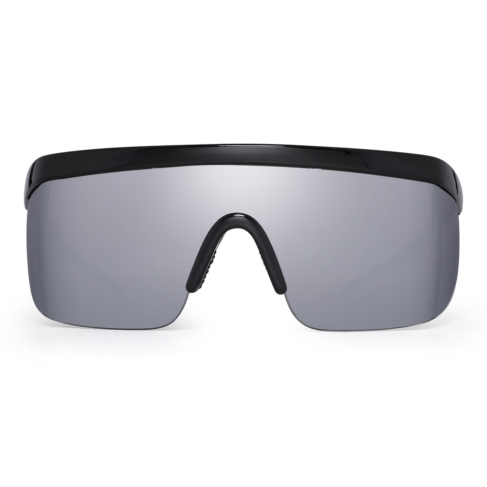 Oversized Flat Top Shield Sunglasses