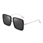 Oversized Square Sunglasses for Women Men Fashion Designer Flat Shades