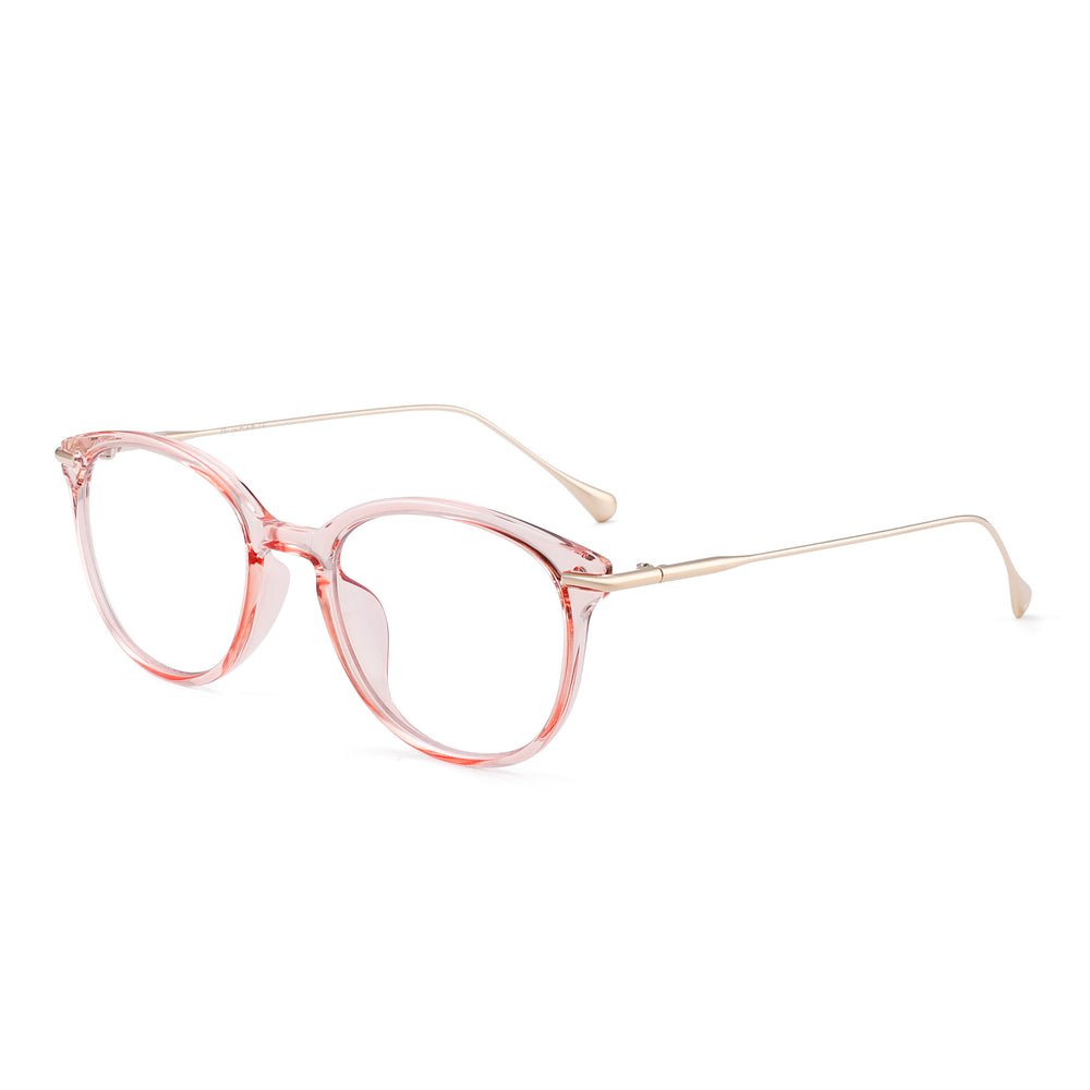 Retro Round Blue Light Blocking Glasses Reduce Eye Strain