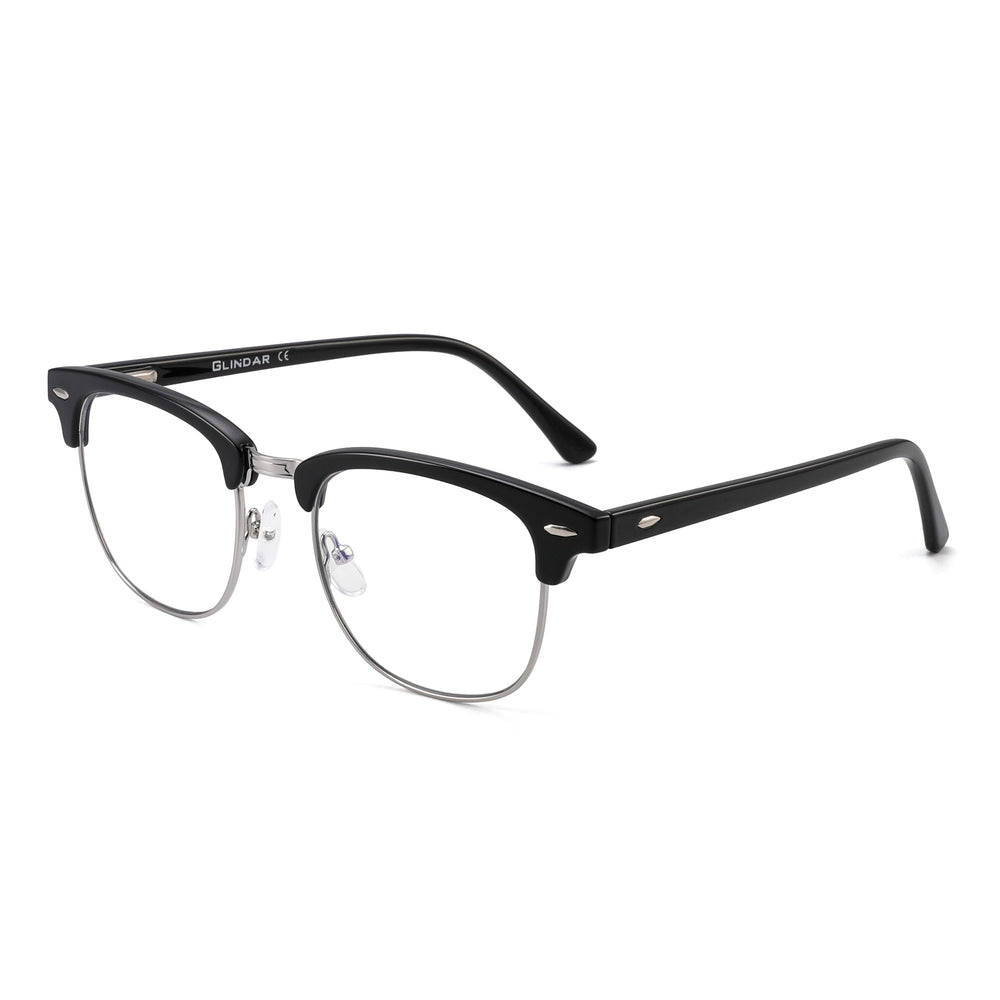 Blue Light Blocking Computer Glasses Retro Semi-rimless