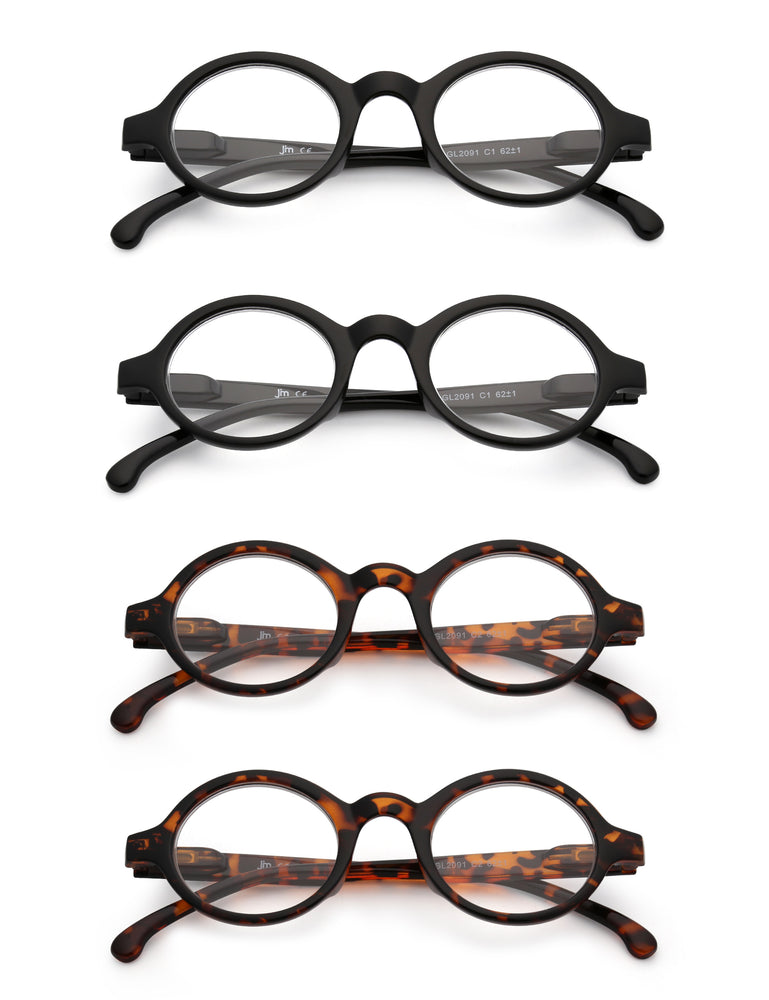 Round Reading Glasses Spring Hinge Readers