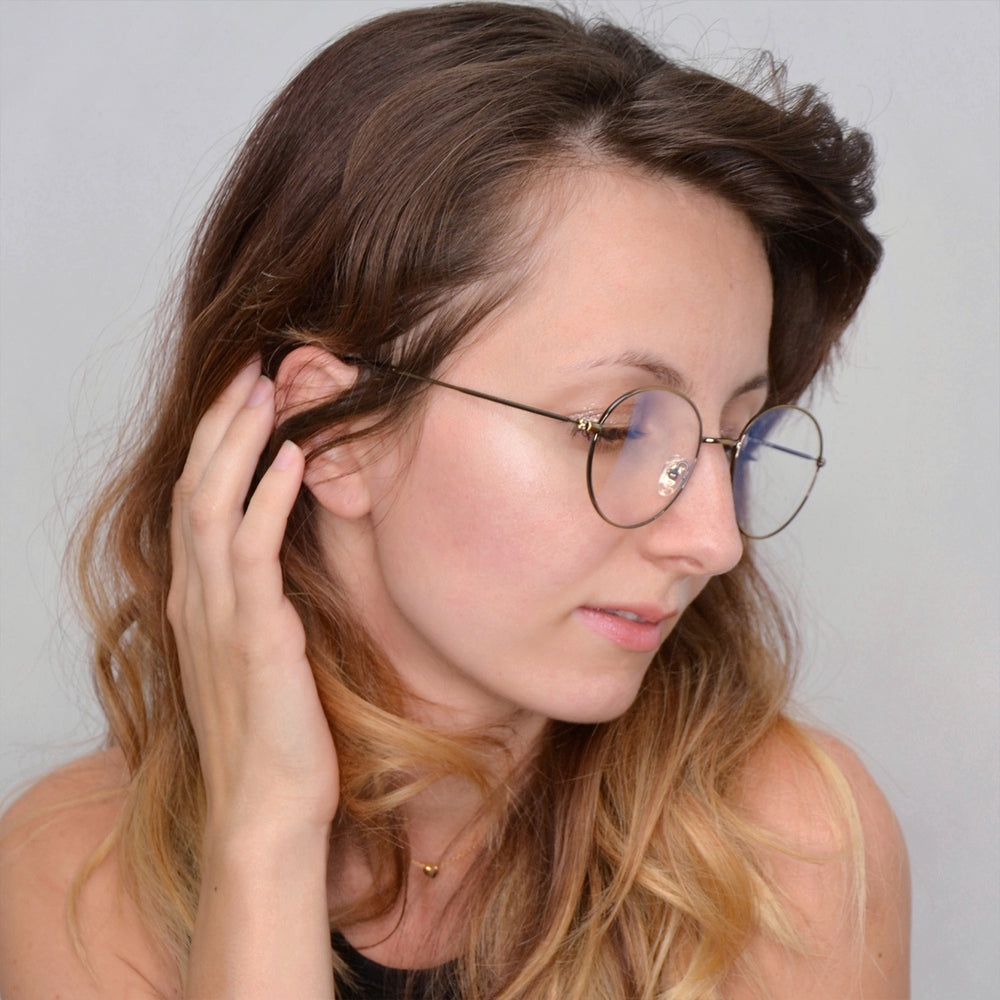 Retro Round Computer  Glasses Anti Eyestrain