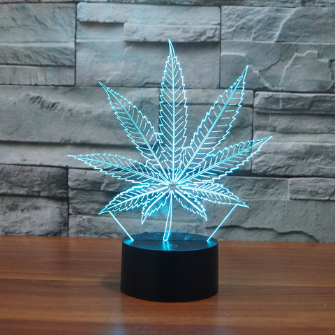 New 3D LED Table Lamps Leaf Night Lamp LED NightLight Acrylic Colorful Gradient Atmosphere Lamp Best Gifts promotion - 420 Weed Mart