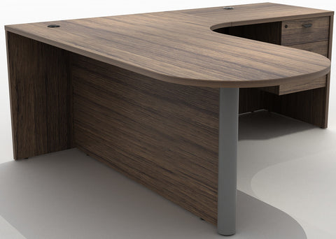(40% OFF) Reversible Bullet Style L-Shaped Desk