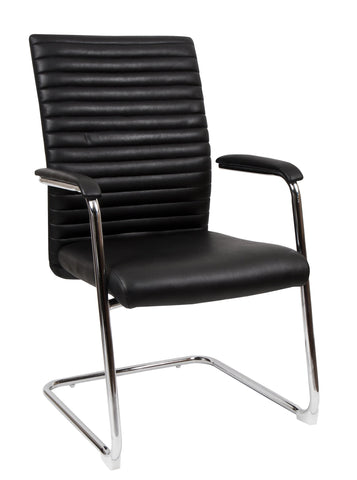 Medium Back Bonded Leather Guest Chair
