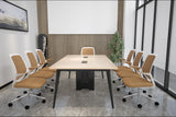 Boardroom Table with Black Metal Legs