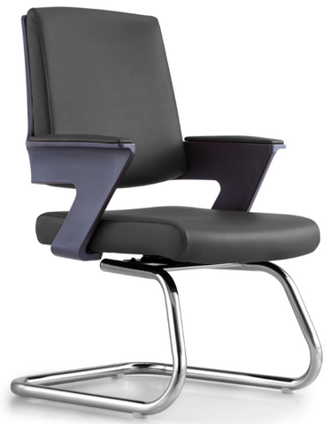 Swivel Bonded Leather Guest Chair
