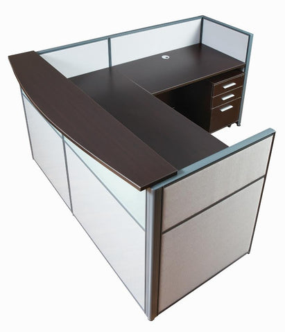 Richmond Office Furniture, Richmond Corner Workstation, Vancouver Office Furniture, Vancouver Corner Workstation, Reception Counter