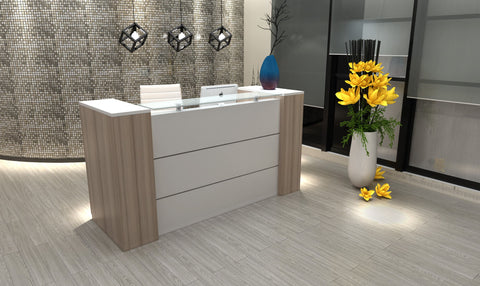 Reception Desk with Storage Cabinet