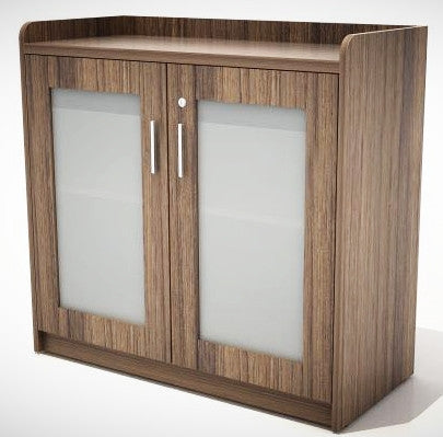Storage Cabinet with Glass Door