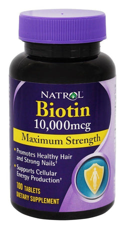 Natrol - Biotin Maximum Strength 10000 mcg. - 100 Tablets