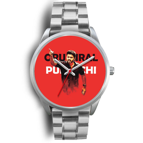 Ilayathalapathy Vijay Designed Silver Watch Imported Stainless Steel Metal High Quality