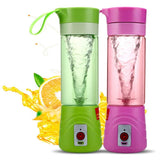 Stylemake™ Blender 6 Blade Blender 380ml Fruit Mixing Machine with USB Charger Cable for Superb Mixing, USB Juicer Cup