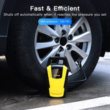StyleMake™ Portable Car Air Compressor Tyre Inflator 12V DC Car Pump with Auto Cut Off Digital Pressure Gauge Bright and inbuilt LED Light