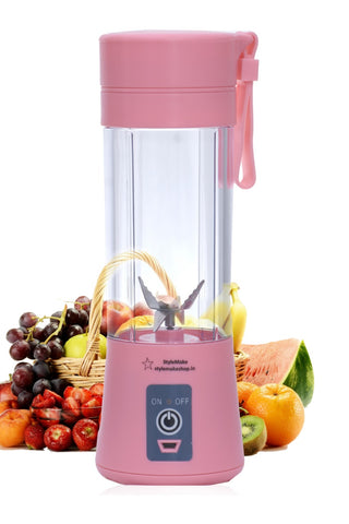 Stylemake™ 6 Blade Blender 380ml Fruit Mixing Machine - High Quality USB Blender