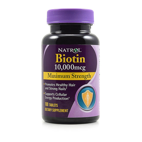 Natrol - Biotin Maximum Strength 10000 mcg. - 100 Tabs