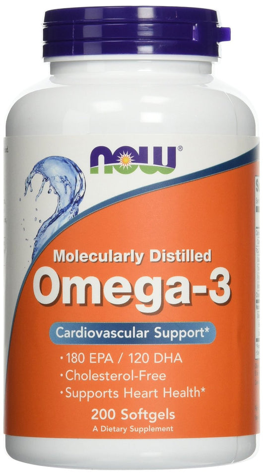 Now Foods Omega-3 1000mg Cardiovascular Support Molecularly Distilled