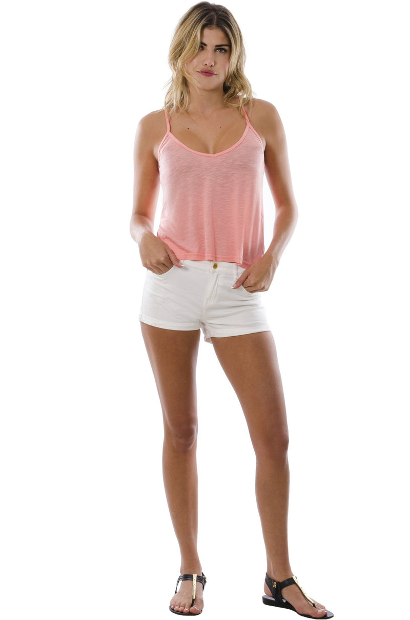 The Deep V-Neck Swing (in Shell Pink)