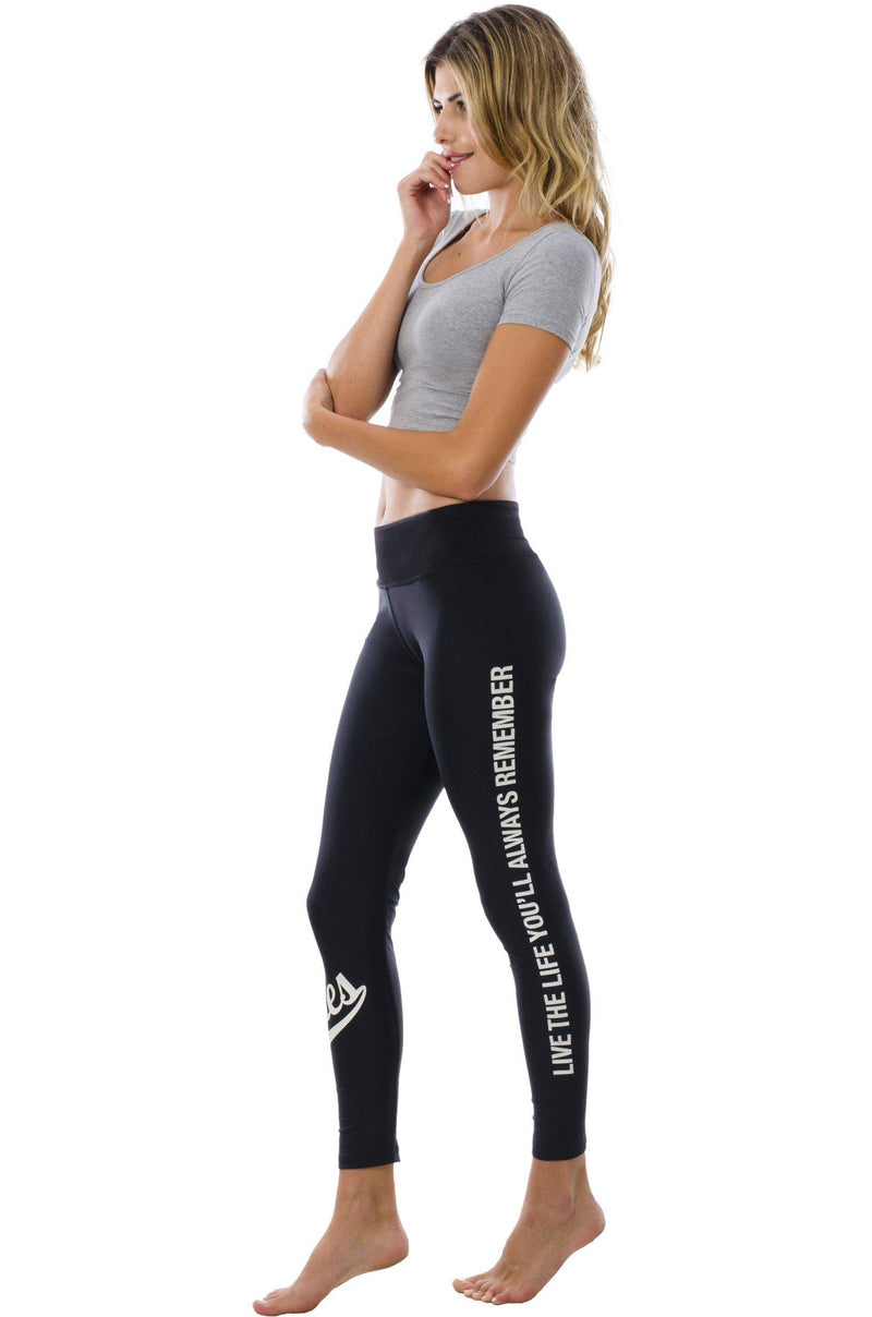 Yoga Pants in Monochrome - Stellies Authentic Clothing