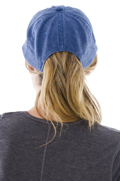 Stone-Washed Dad Cap in Denim Blue5