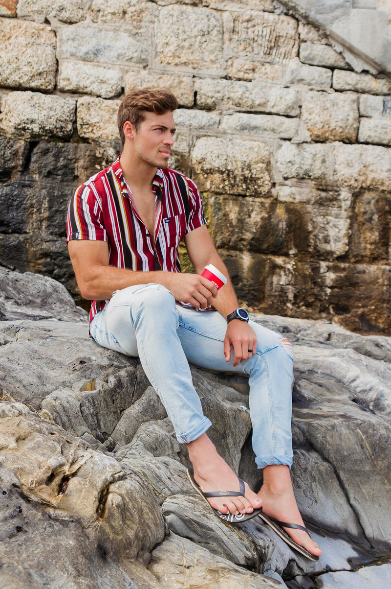Iconic Summer Shirt in Vertical Stripes