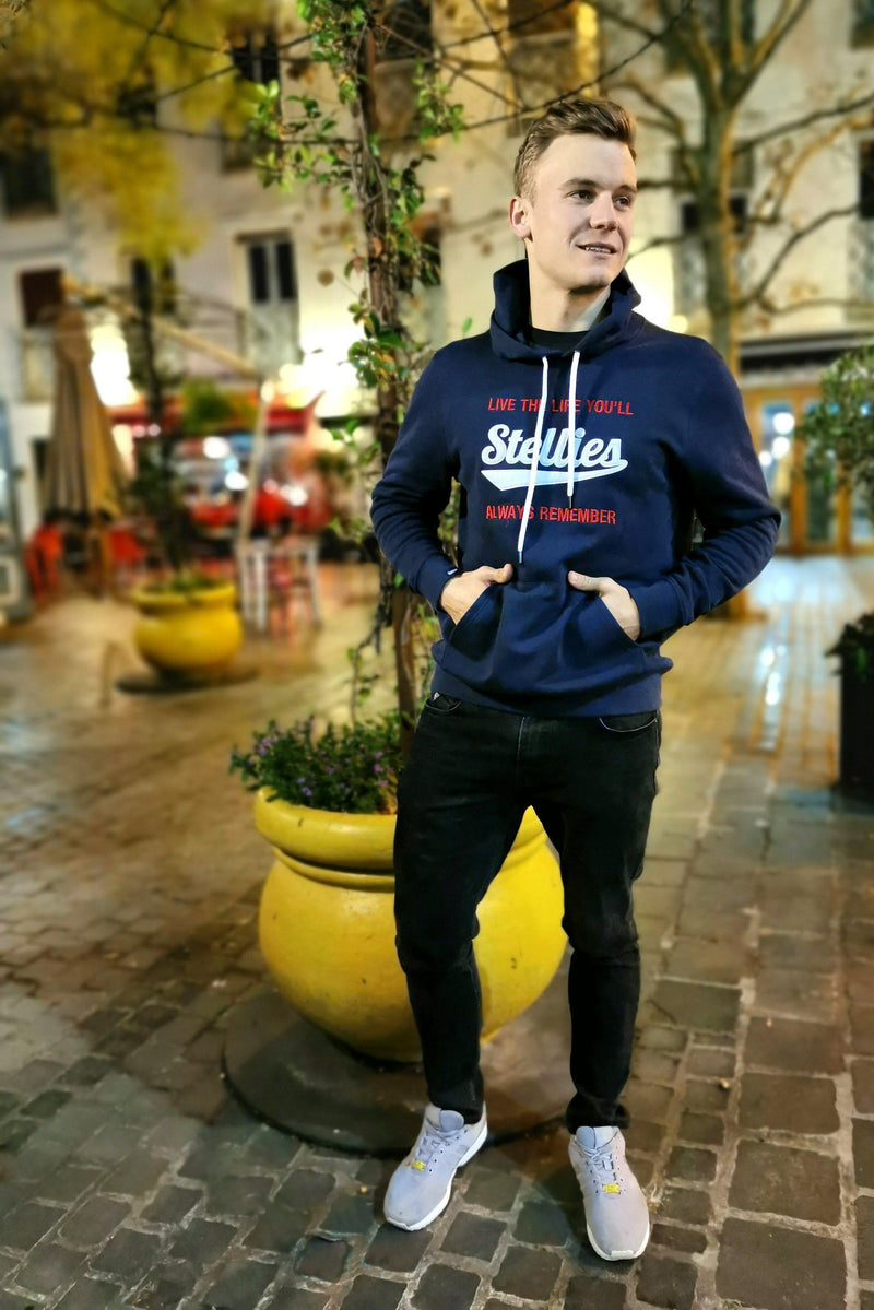 The Old School Fleece Hoodie in Navy