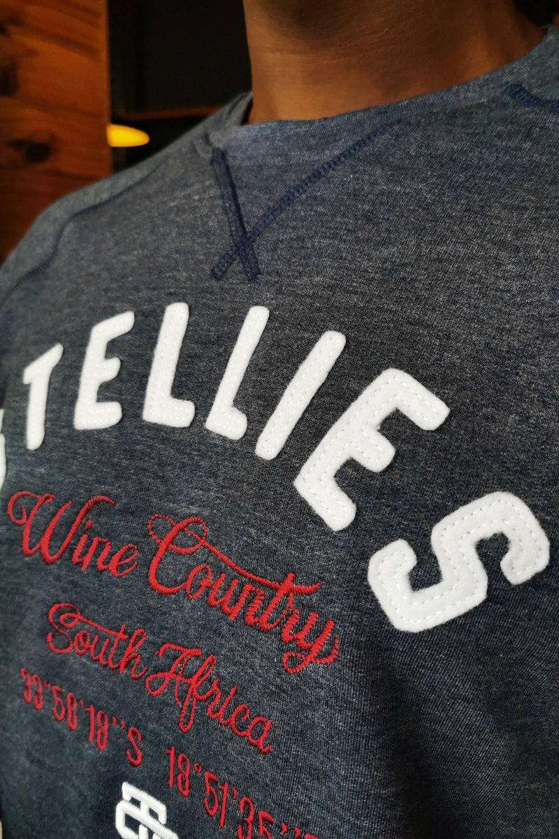 Wine Country Crew Neck Pull Over in Indigo - Stellies Authentic Clothing