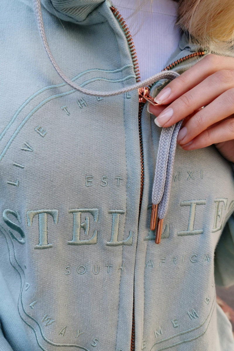 The Pistachio Zip-Up Hoodie