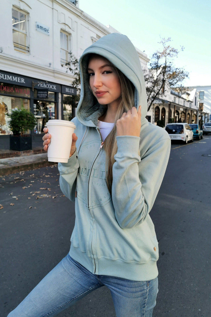 The Pistachio Zip-Up Hoodie - Stellies Authentic Clothing