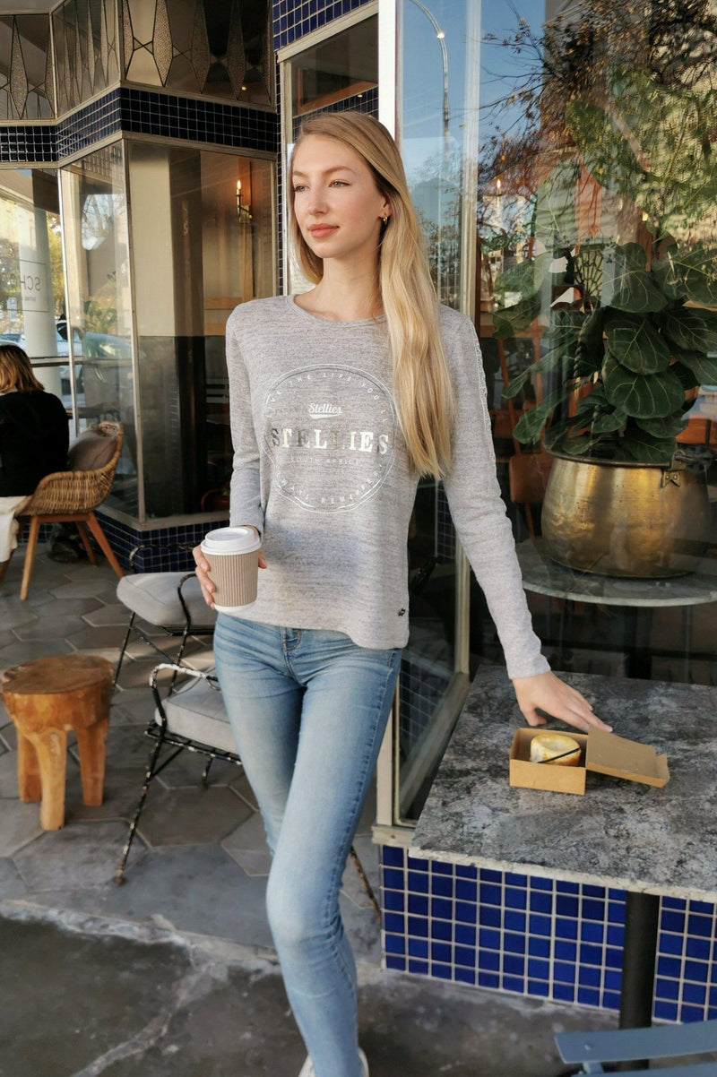 The Silver Laced Novella Top - Stellies Authentic Clothing