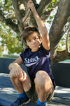 Unisex Kids Tee in Speckled Navy - Stellies Authentic Clothing