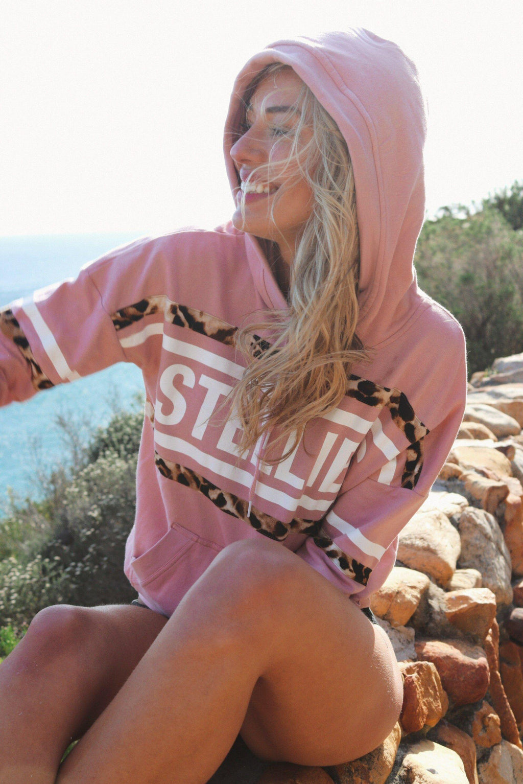 The Rose Pink Jungle Hoodie