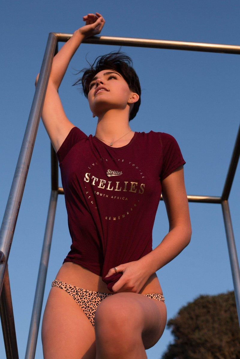 The Claret & Gold Basic Tee - Stellies Authentic Clothing