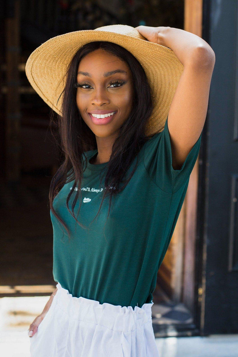 The Weekend Tee in Hunters Green - Stellies Authentic Clothing
