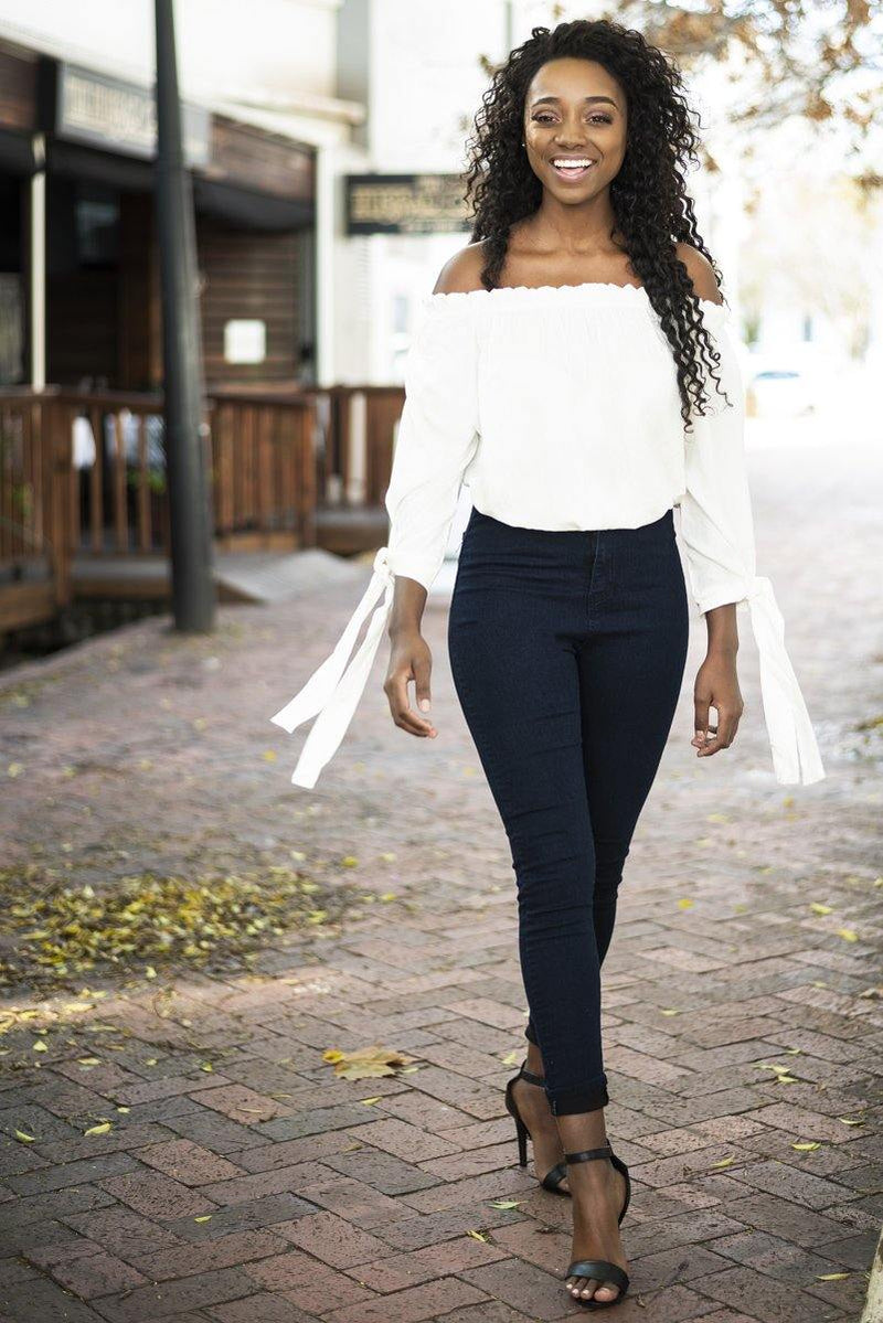 Bardot in White - Stellies Authentic Clothing