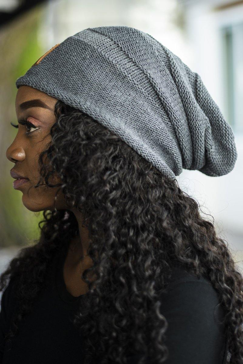 Horizontal Knit Slouchy Beanie - Stellies Authentic Clothing