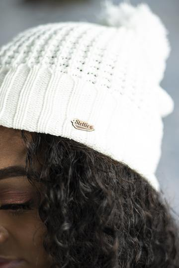 Ladies Beanie in Cream
