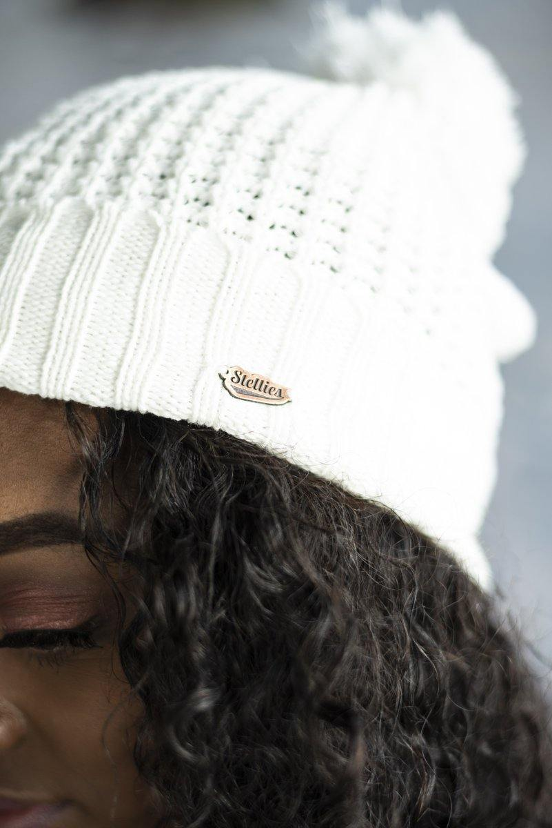 Ladies Beanie in Cream - Stellies Authentic Clothing