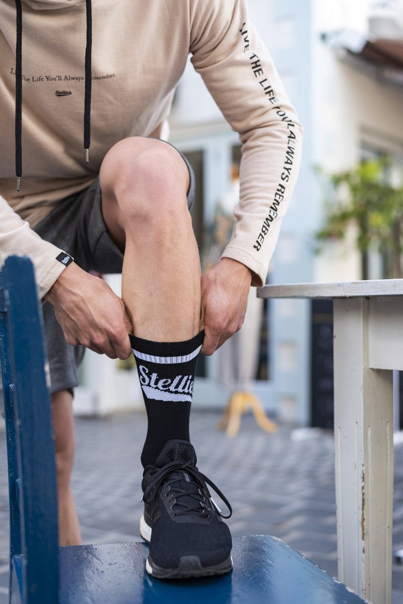Stellies Socks in Solid Black