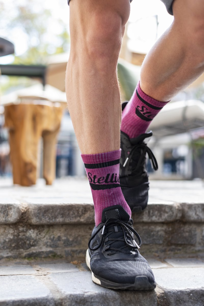PRE ORDER Stellies Socks in Crimson Crush-Dye