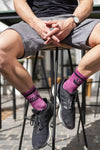 The Stellies Socks in Crimson Crush-Dye