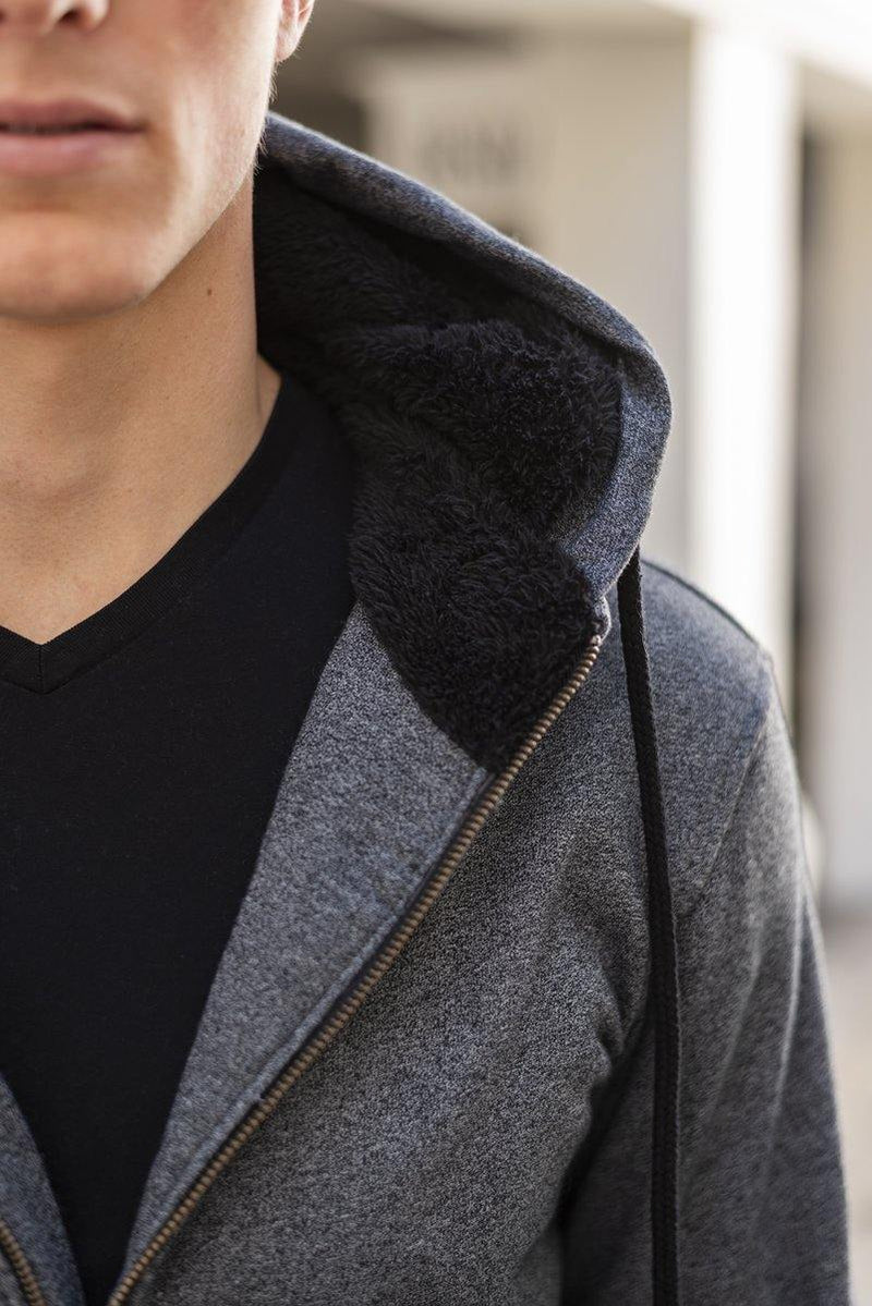The Zip-Up Hoodie In Charcoal