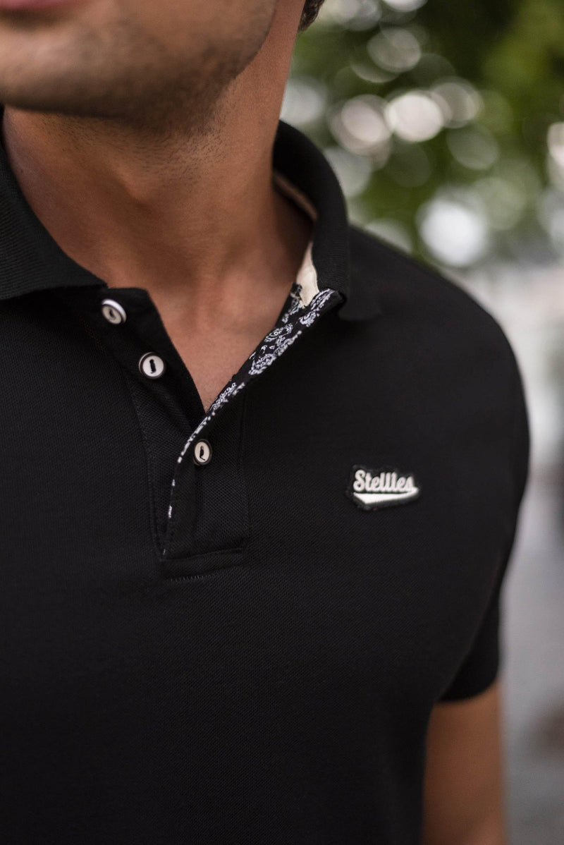 Premium Golfer in Black with Paisley