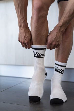The Stellies Socks in Solid White