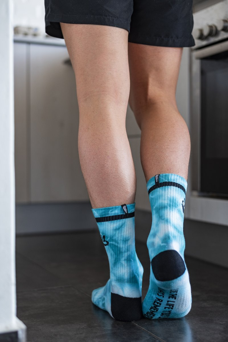 The Stellies Socks in Bubble-gum Crush-dye