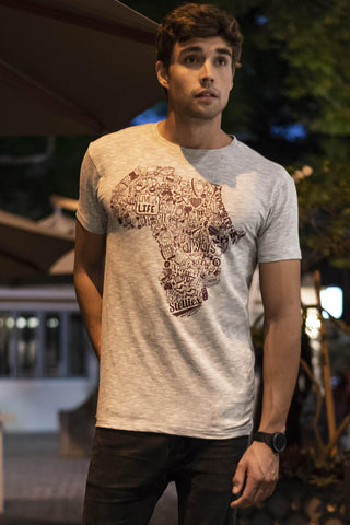 Mens Ruby Outline Crew Neck Tee