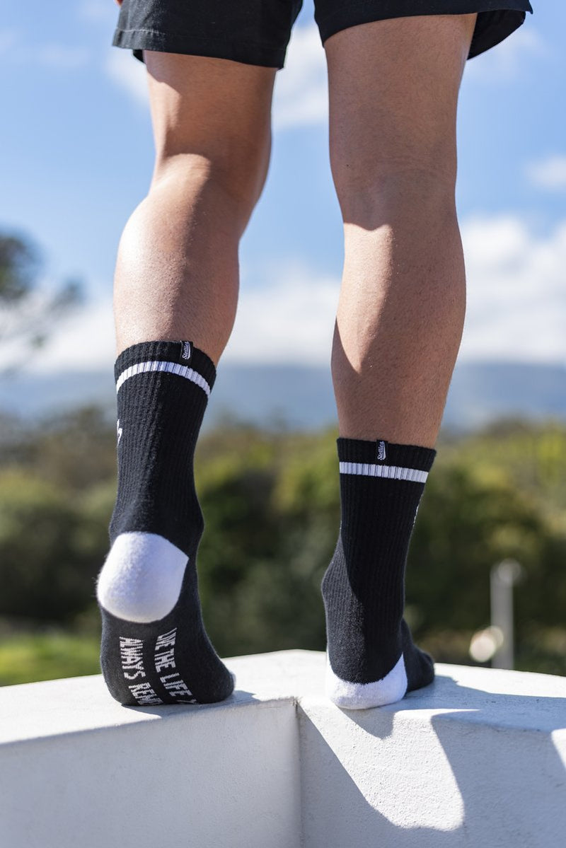 The Stellies Socks in Solid Black