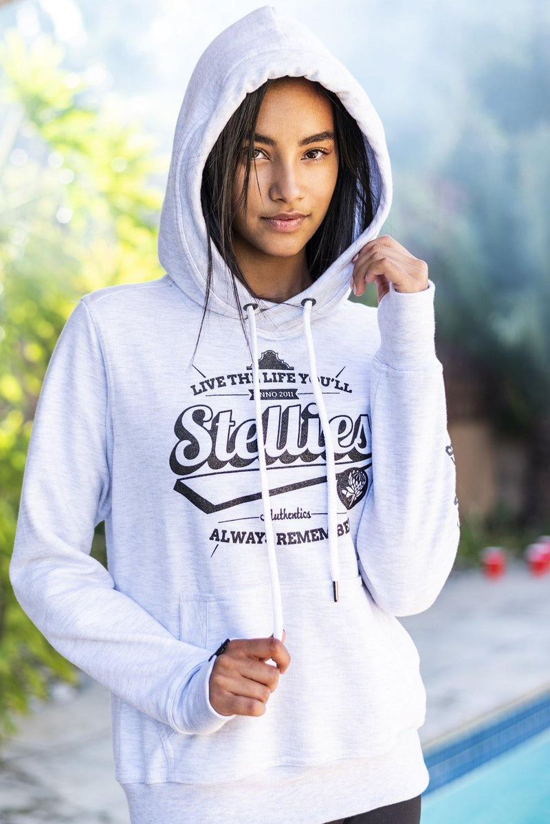Ladies Ice Grey Legacy Fleece Hoodie