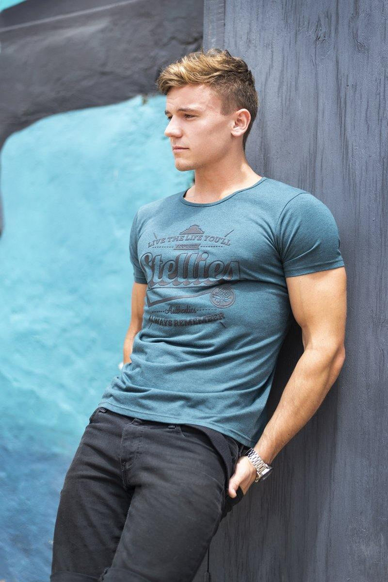The Teal Green Scoop Neck Tee