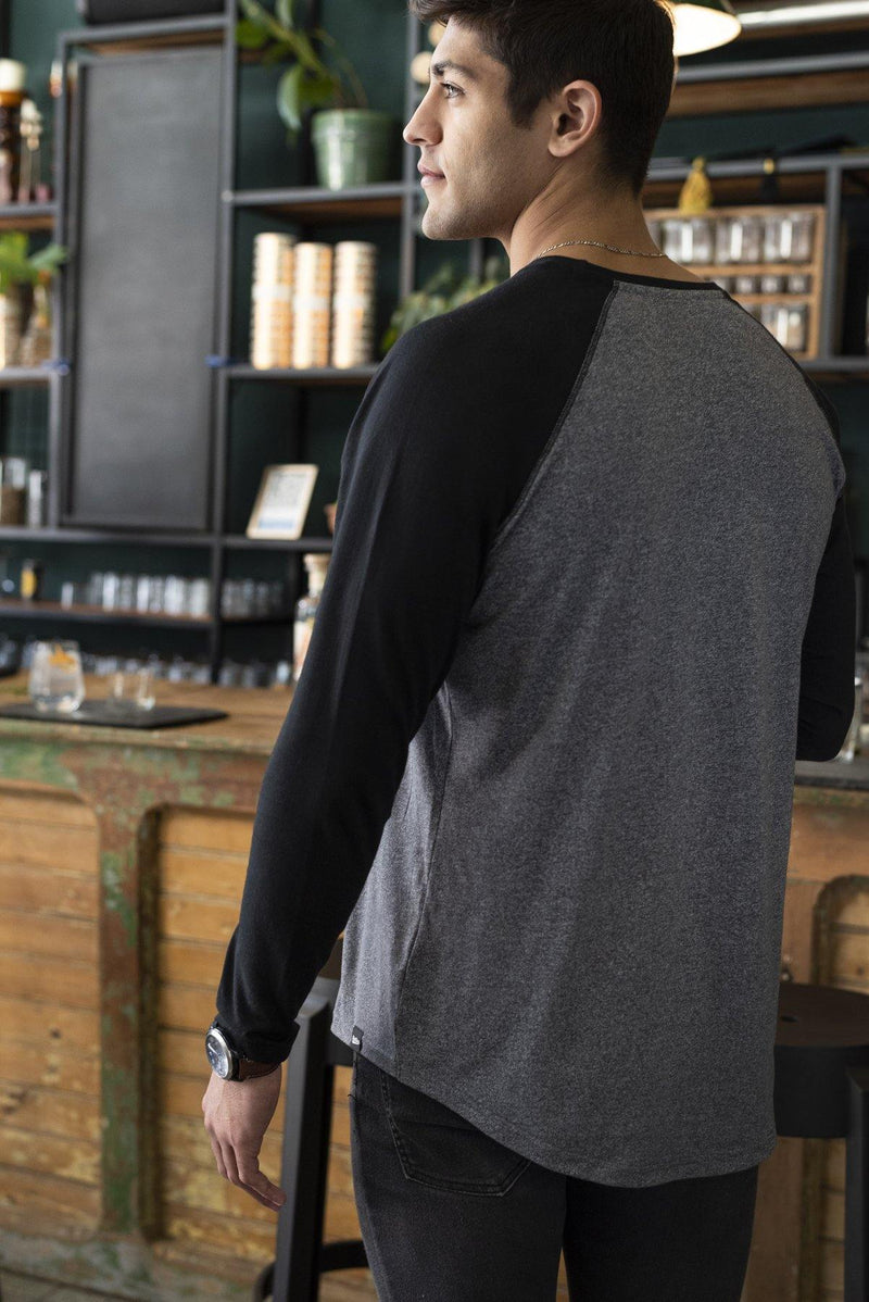 Black Sleeve Baseball Tee